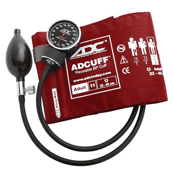 ADC Diagnostix 720 Pocket Aneroid Sphygmomanometer - Adult - Red