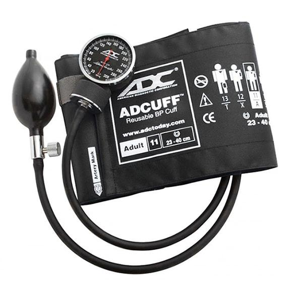 ADC Diagnostix 720 Pocket Aneroid Sphygmomanometer - Adult - Black