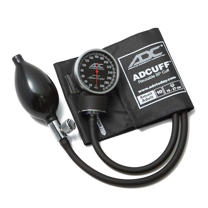 ADC Diagnostix 720 Pocket Aneroid Sphygmomanometer - Small Adult - Black
