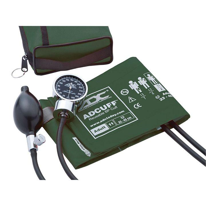 ADC Diagnostix 778 Pocket Aneroid Sphygmomanometer - Dark Green