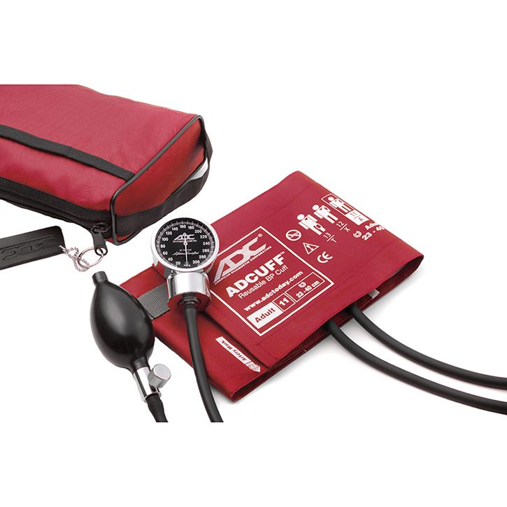 ADC Diagnostix 778 Pocket Aneroid Sphygmomanometer - Red