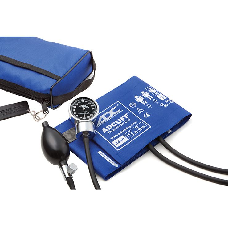 ADC Diagnostix 778 Pocket Aneroid Sphygmomanometer - Royal Blue