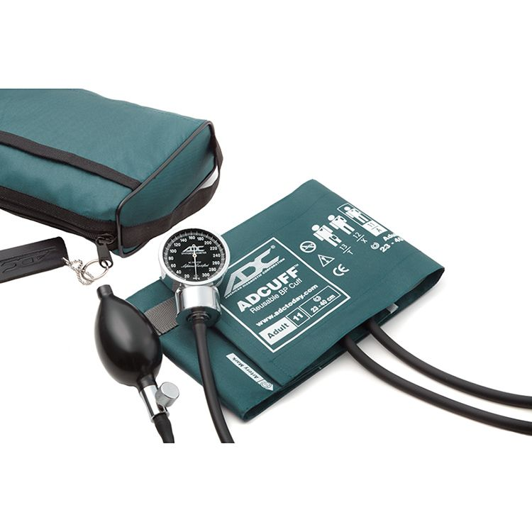 ADC Diagnostix 778 Pocket Aneroid Sphygmomanometer - Teal