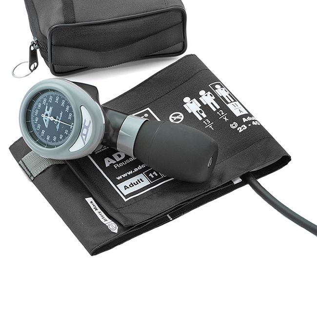 ADC Diagnostix 788 Palm Aneroid Sphygmomanometer - Black