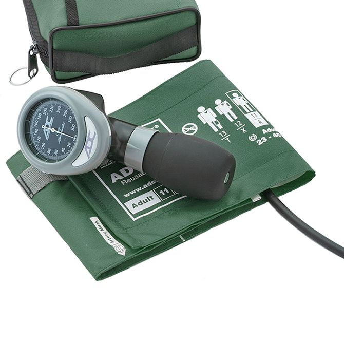 ADC Diagnostix 788 Palm Aneroid Sphygmomanometer - Dark Green