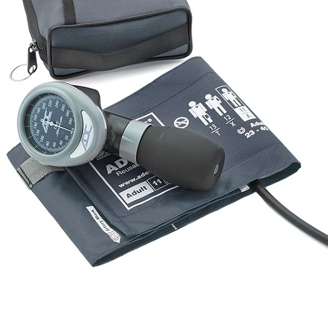 ADC Diagnostix 788 Palm Aneroid Sphygmomanometer - Navy