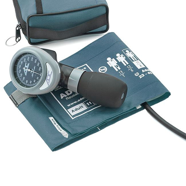 ADC Diagnostix 788 Palm Aneroid Sphygmomanometer - Teal