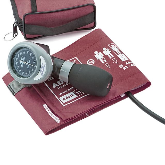 ADC Diagnostix 788 Palm Aneroid Sphygmomanometer - Burgundy