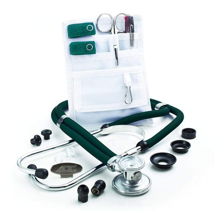 ADC Nurse Combo Adscope 641 Sprague Stethoscope and Pocket Pal II Kit - Teal