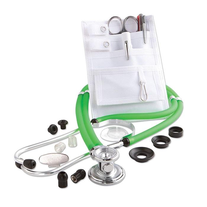 ADC Nurse Combo Adscope 641 Sprague Stethoscope and Pocket Pal II Kit - Frosted Kiwi