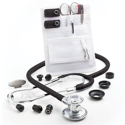 ADC Nurse Combo-One Adscope 647 Sprague-One Stethoscope and Pocket Pal II Kit - Black