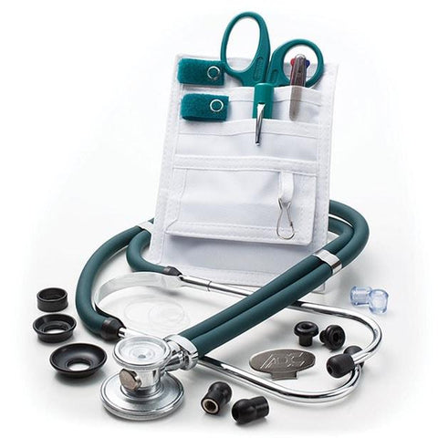 ADC Nurse Combo Plus Adscope 641 Sprague Stethoscope and Pocket Pal III Kit - Teal
