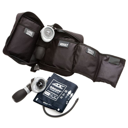 ADC Portable 3 Cuff Sphygmomanometer Multicuff Kit - Navy Cuff