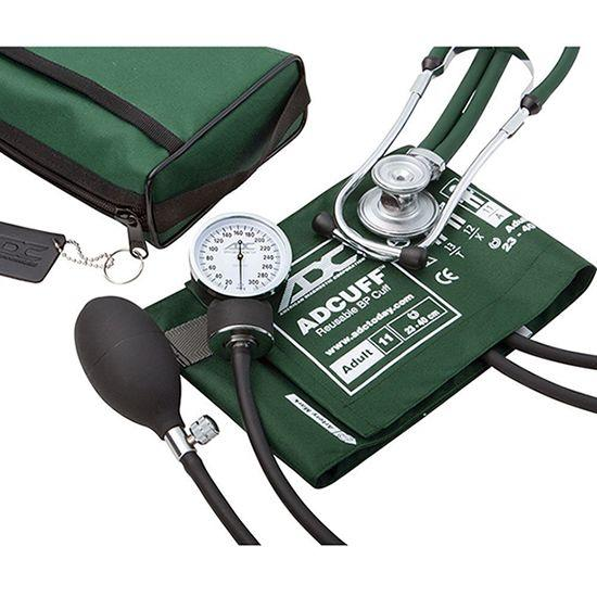 ADC Pro's Combo II 768-641 Pocket Aneroid/Sprague Scope Kit - Adult - Dark Green