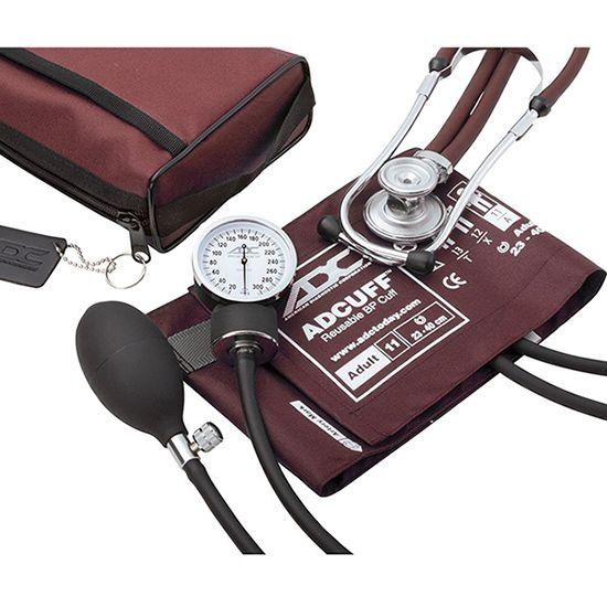 ADC Pro's Combo II 768-641 Pocket Aneroid/Sprague Scope Kit - Adult - Burgundy