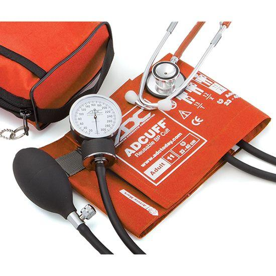 ADC Pro's Combo II 768-670 Pocket Aneroid/Dual Head Scope Kit - Orange