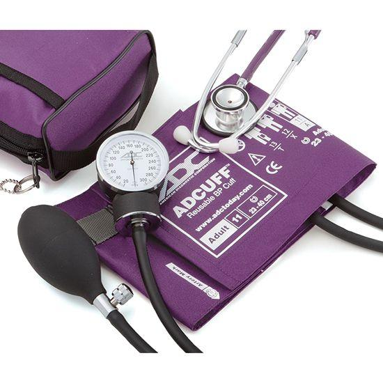 ADC Pro's Combo II 768-670 Pocket Aneroid/Dual Head Scope Kit - Purple