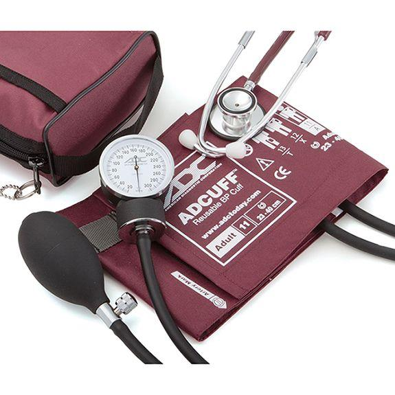 ADC Pro's Combo II 768-670 Pocket Aneroid/Dual Head Scope Kit - Burgundy