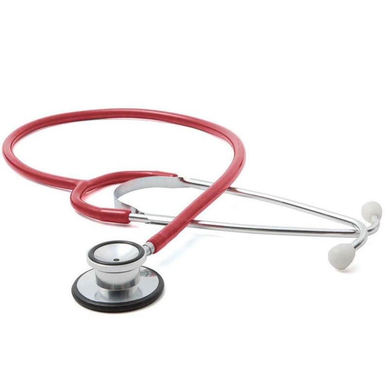 ADC Proscope 670 Dual-Head Stethoscope - Red
