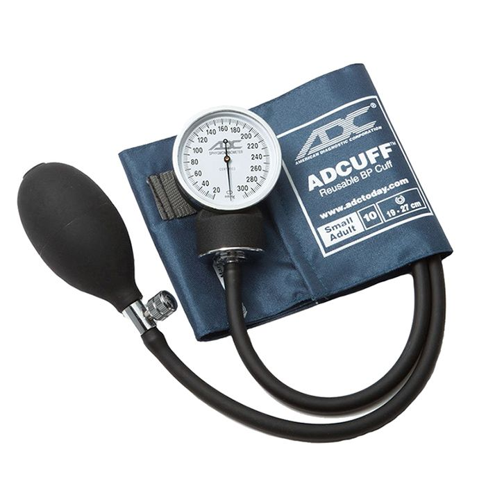 ADC Prosphyg 760 Pocket Aneroid Sphygmomanometer - Small Adult - Navy