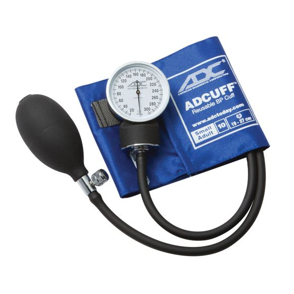 ADC Prosphyg 760 Pocket Aneroid Sphygmomanometer - Small Adult - Royal Blue