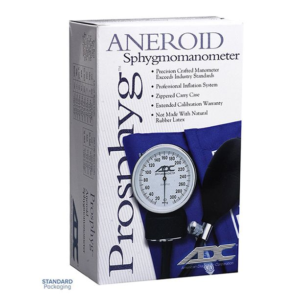 ADC Prosphyg 760 Pocket Aneroid Sphygmomanometer - Small Adult - Packaging