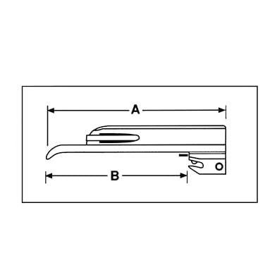ADC Satin Fiber Optic Miller Blade - Symbol