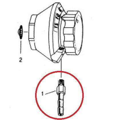 Allied Healthcare L233-020 Constant Flow Selector Valve Repair Parts - Barbed Fitting