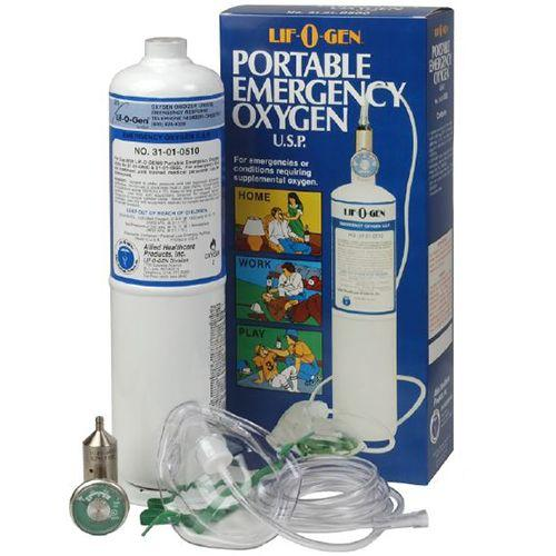 Allied Healthcare Lif-O-Gen Disposable Emergency Portable Oxygen Kit