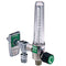 Allied Healthcare Timeter Sure Grip Single Oxygen Flowmeter - Power Take-Off
