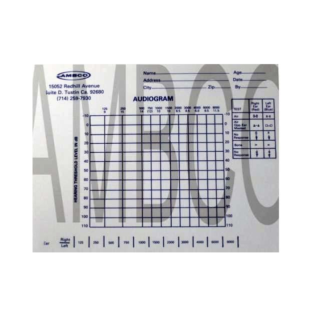 Ambco Audiogram Pad
