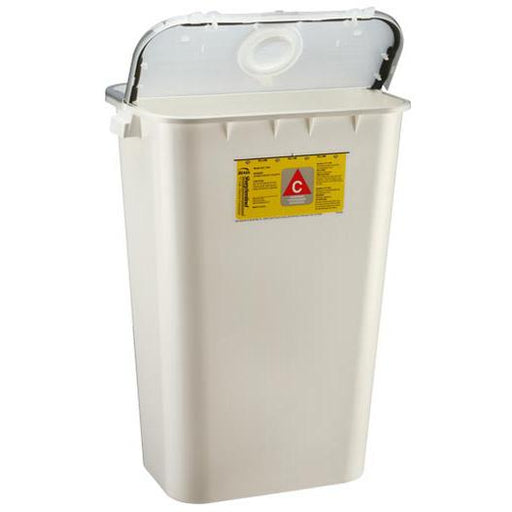 Bemis 11-Gallon Chemotherapy Container - White