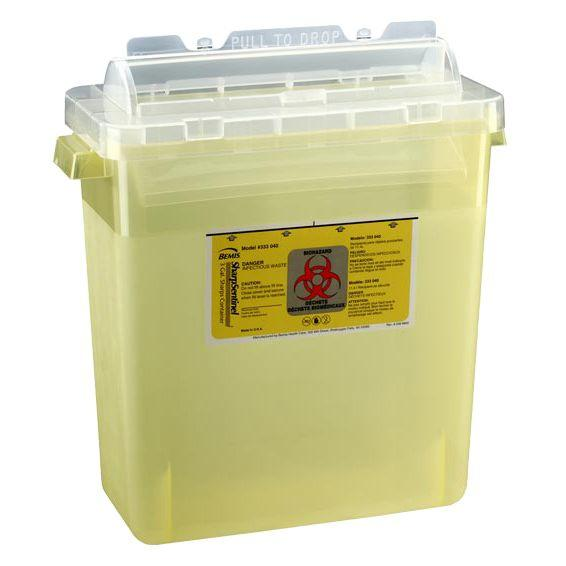 Bemis SharpSentinel 3-Gallon Sharps Container - Translucent Yellow
