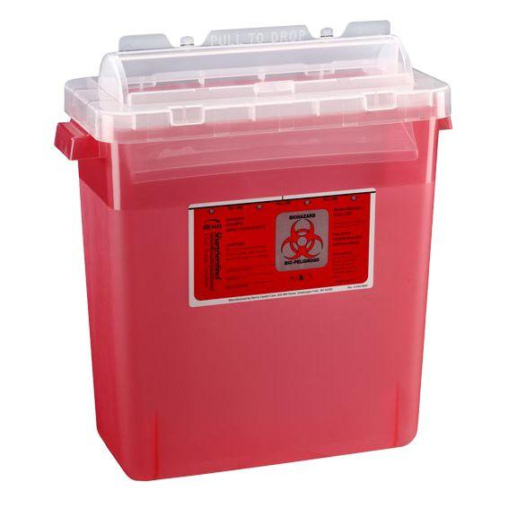 Bemis SharpSentinel 3-Gallon Sharps Container - Translucent Red