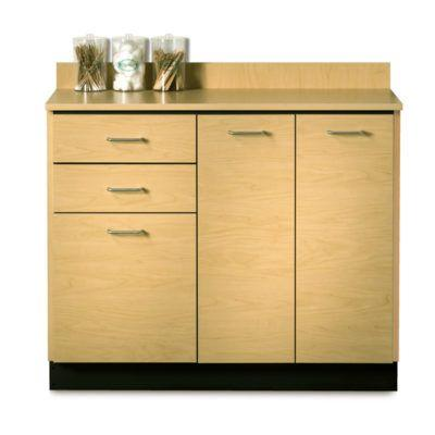 "Clinton 42"" Base Cabinet with 3 Doors and 2 Drawers - Maple"