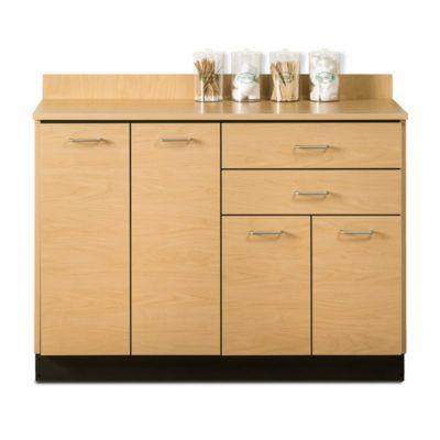 "Clinton 48"" Base Cabinet with 4 Doors and 2 Drawers - Maple without Sink"