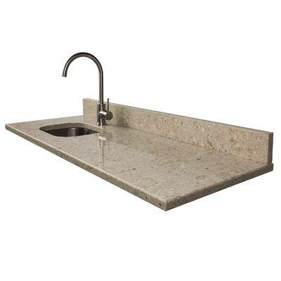 "Clinton 48"" HansStone Quartz Countertop - Ivory Wave"