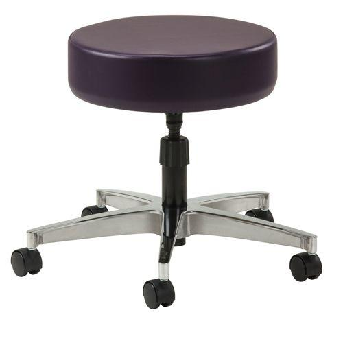 Clinton 5-Leg Spin-Lift Stool with Aluminum Base