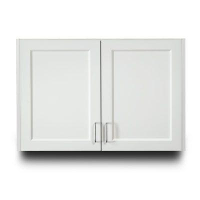"Clinton Fashion Finish 36"" Wall Cabinet with 2 Doors - Arctic White"