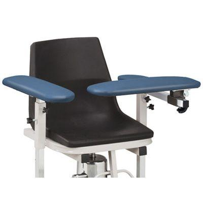 Clinton H Series E-Z-Clean Hydraulic Blood Drawing Chair with Padded Arms
