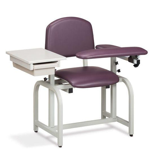 The Clinton Lab X Series Blood Drawing Chair with Padded Flip Arm and Drawer