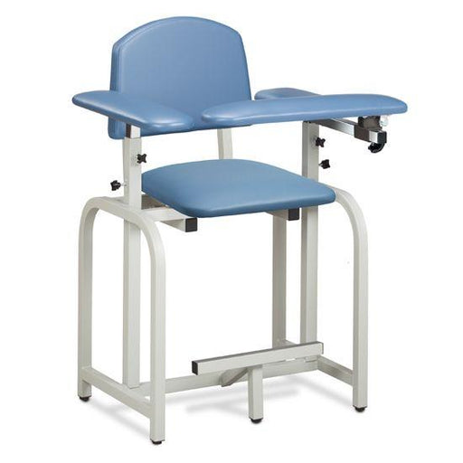 The Clinton Lab X Series Extra-Tall Blood Drawing Chair with Padded Arms