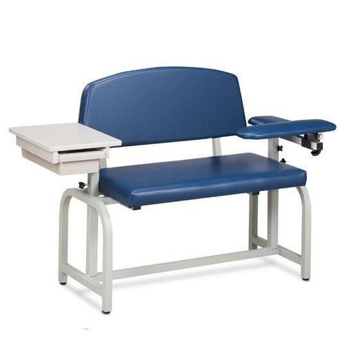 The Clinton Lab X Series Exra-Wide Blood Chair with Padded Flip Arm and Drawer