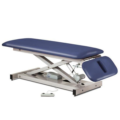 Clinton Open Base Space Saver Power Table with Drop Section