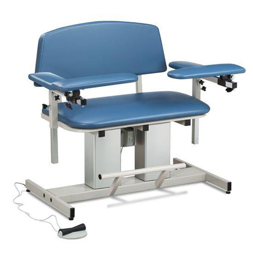 Clinton Power Series Bariatric Blood Drawing Chairs with Padded Arms