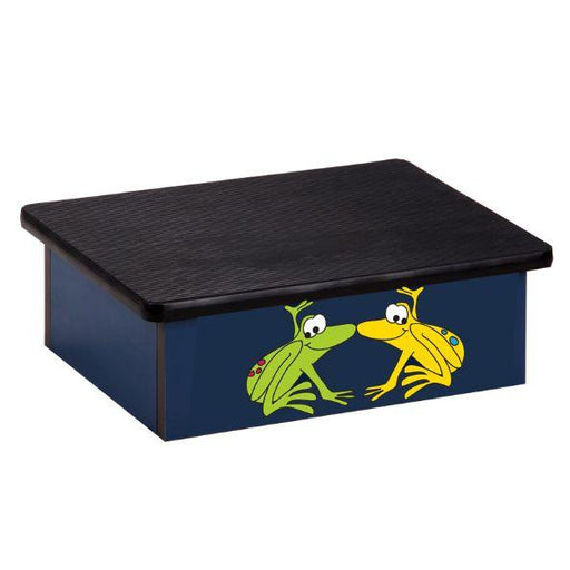 Clinton Rainforest Tree Frogs Blue Laminate Step Stool