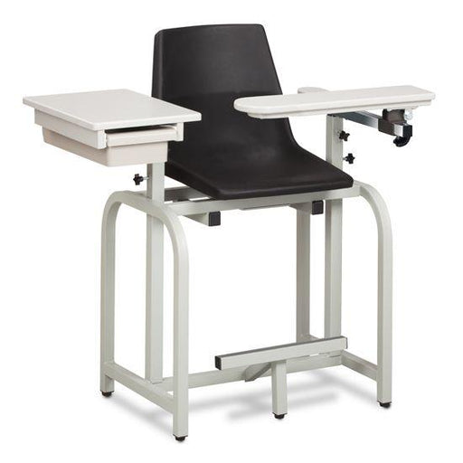 Clinton Standard Lab Series Extra Tall Blood Drawing Chair with ClintonClean Flip Arm and Drawer