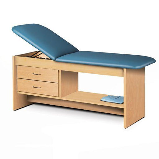 Clinton Treatment Table with Drawers and Shelf