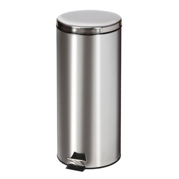 Clinton Waste Can - 32 QT Stainless Steel Round