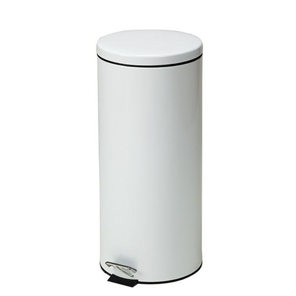 Clinton Waste Can - 32 QT White Round